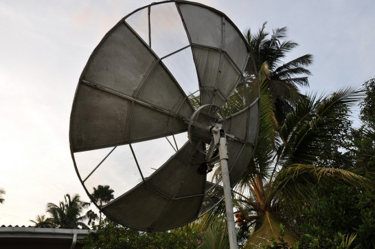 Homemade 9 foot C-Band dish antenna